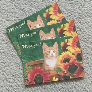 Kitty Cat Postcard Set of Three